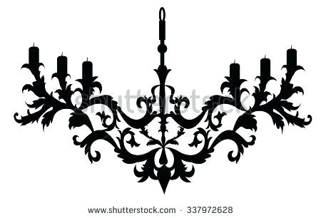 450x306 Simple Chandelier Silhouette Chandelier Vector Home Interiors