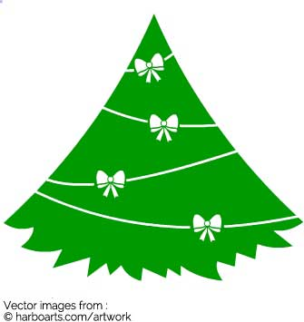 335x355 Download Pine Christmas Tree With Ribbon Bows