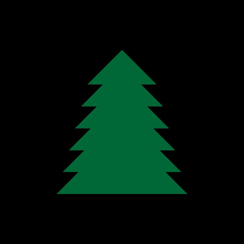 800x800 Free Clipart A Simple Green Tree Jgm104