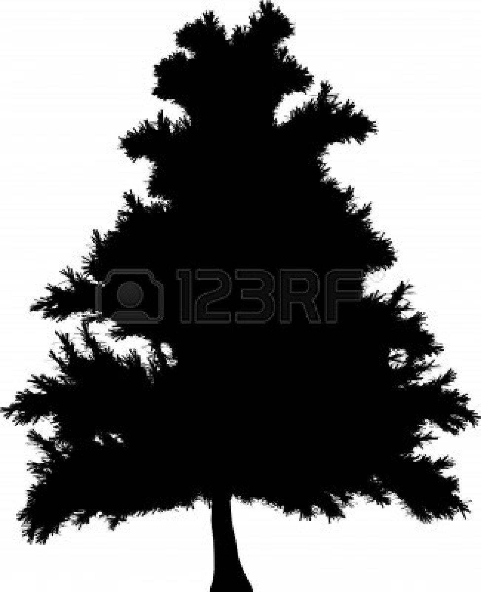 975x1200 Simple Pine Tree Silhouette