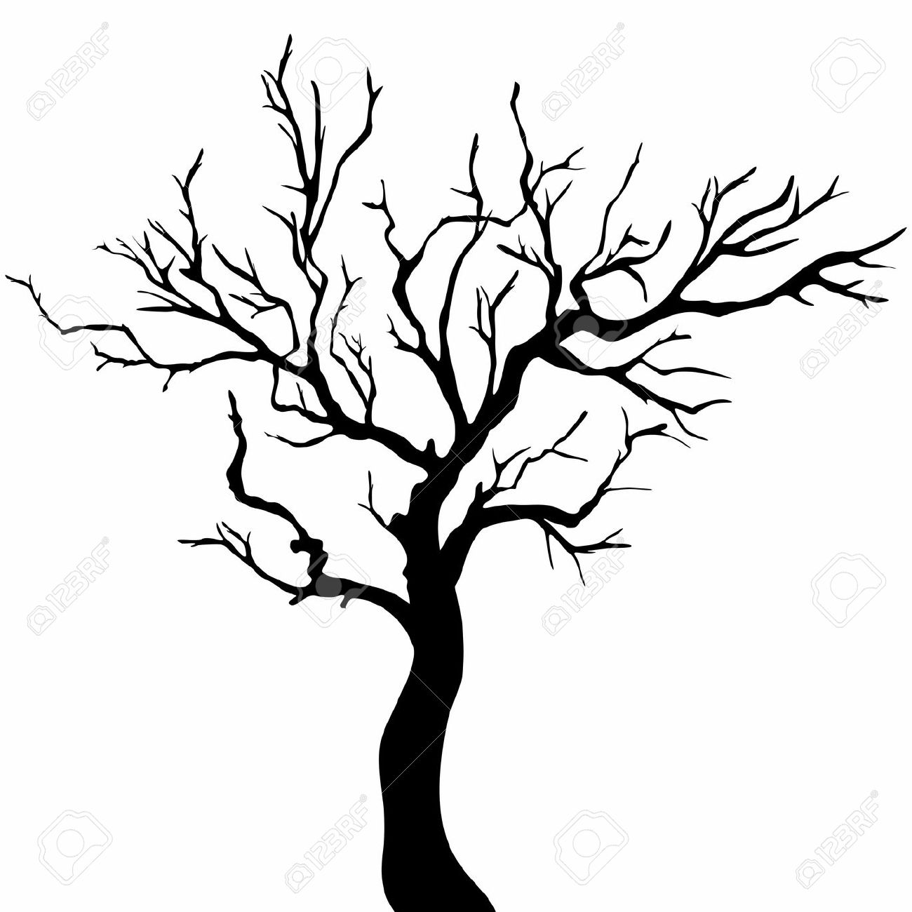 1300x1300 Simple Tree Silhouette 101 Clip Art
