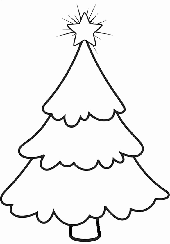 585x838 Simple Tree Stencil Lovely Tree Outlines
