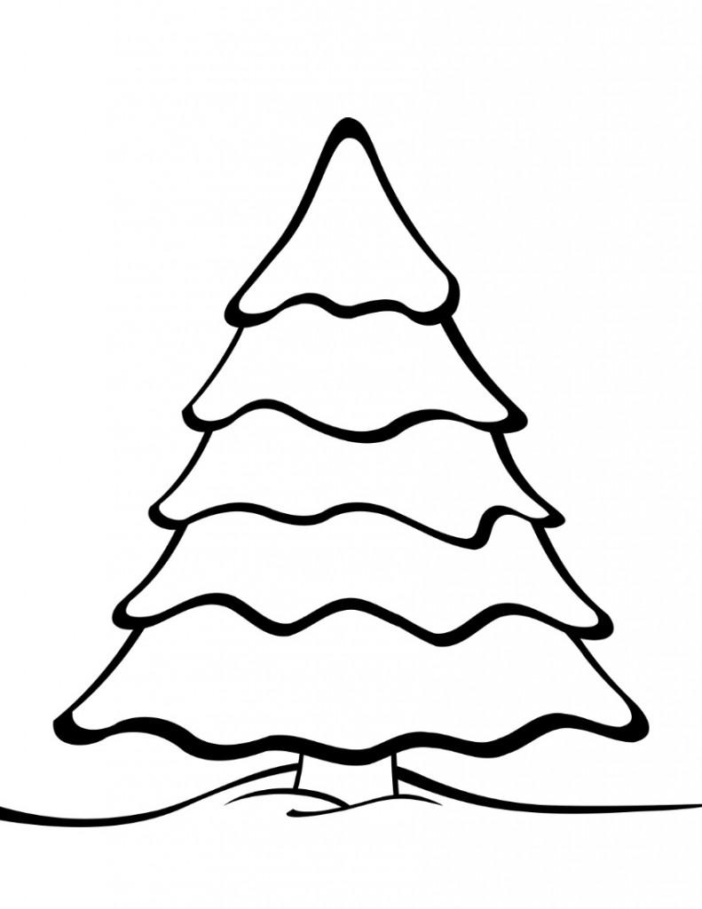 791x1024 Christmas Tree Stencil Printable
