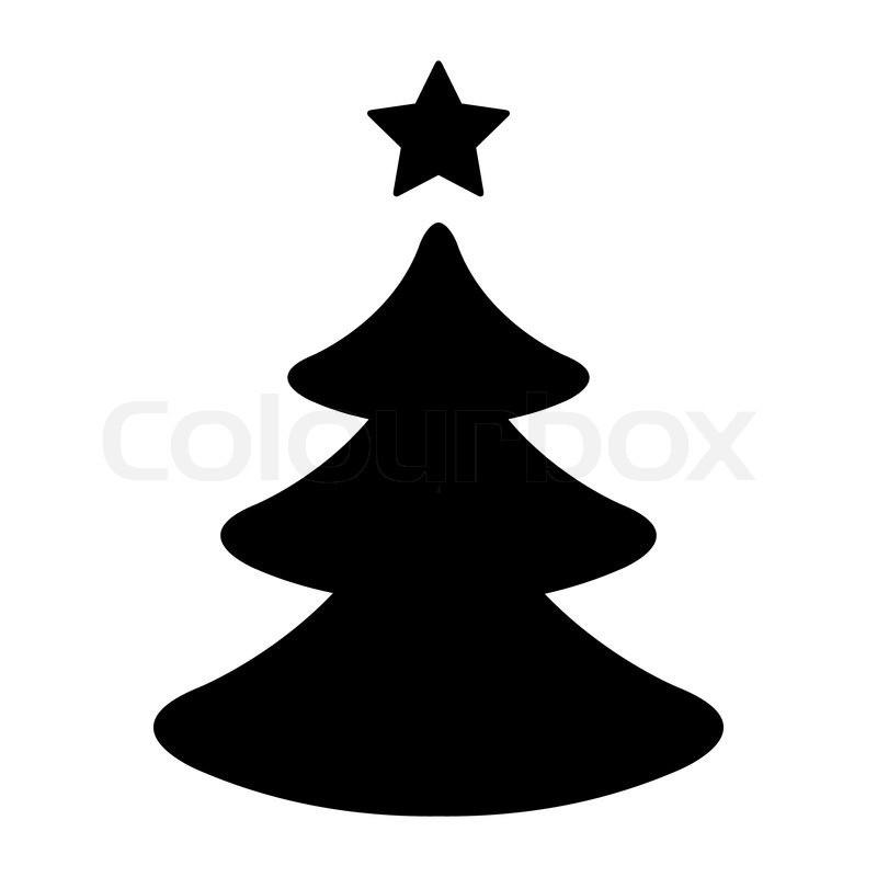 800x800 Christmas Tree Vector Black Find Craft Ideas