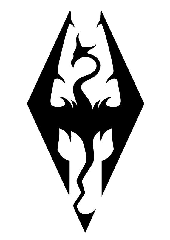 570x806 Skyrim Logo Cross Stitch Pattern Cross Stitch