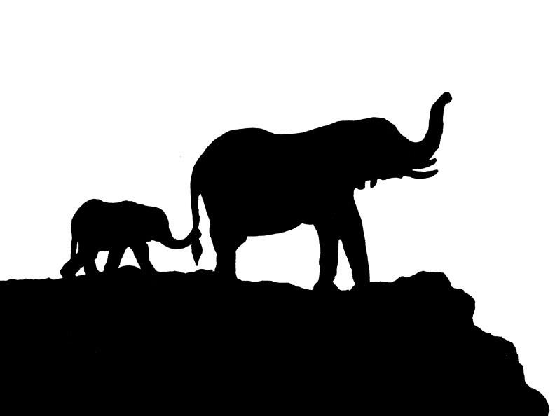 792x594 Elephant Stencil Clipart Best