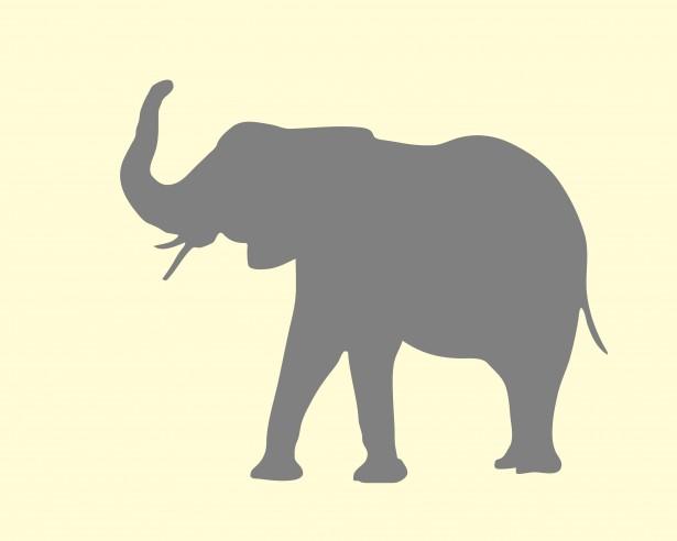 615x492 Simple Elephant Silhouette