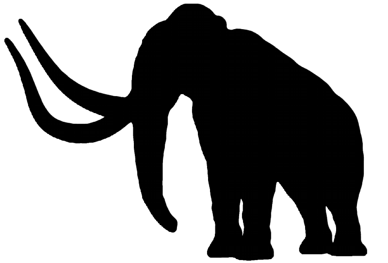 800x542 Simple Full Black Mammoth With Huge Horns Tattoo Design