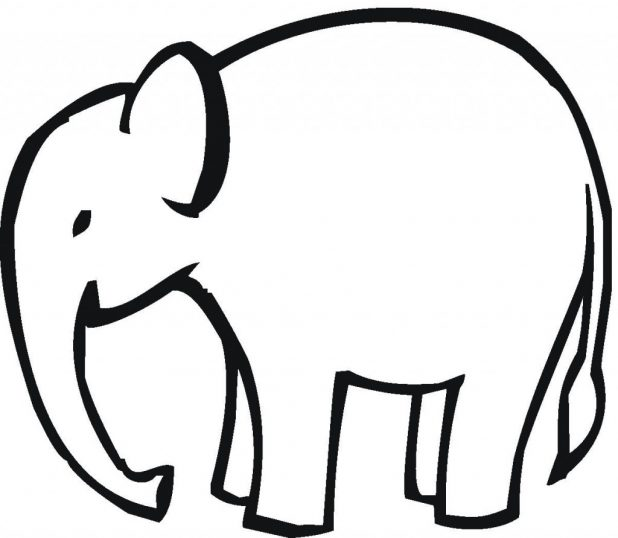 618x538 Adult Simple Drawing Of Elephant Simple Drawing Of Elephant
