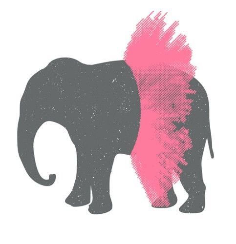 483x500 Elephant In Tutu. Simple. Would Be A Cute Painting For A Little