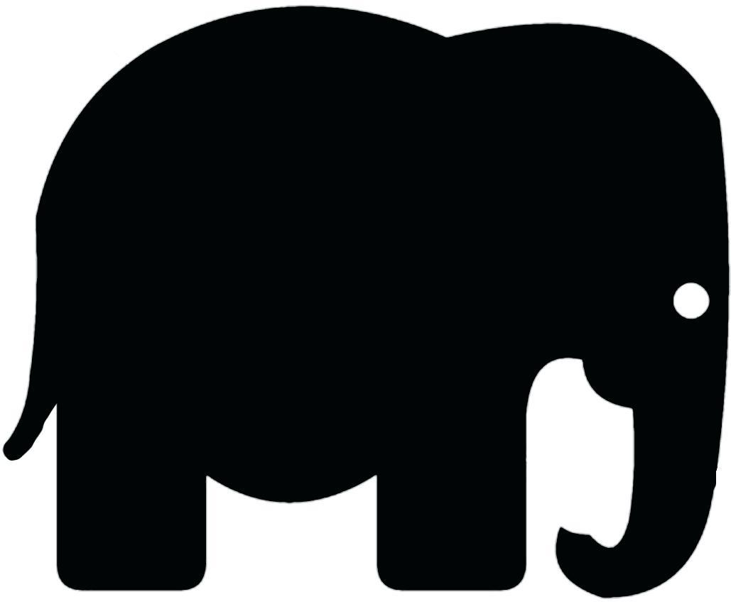1029x851 Template Simple Elephant Template Vector Logo Isolated On A Black