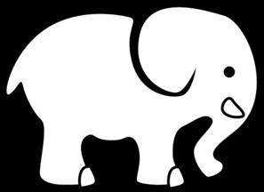 297x216 Elephant Bw Clip Art