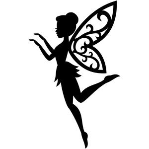 Decisive image with free printable fairy silhouette