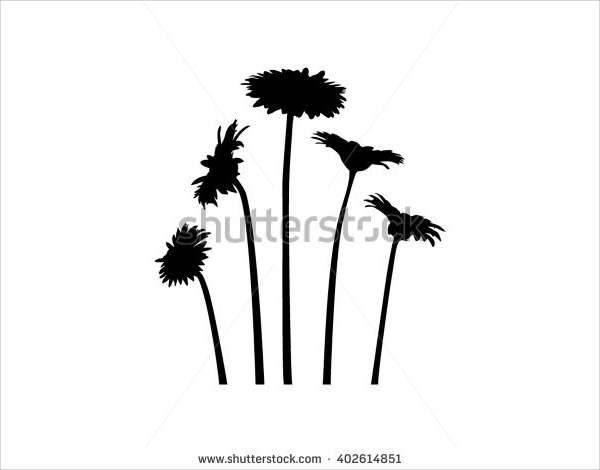 Simple Flower Silhouette