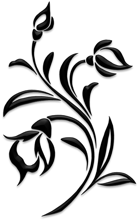 453x716 Flower Silhouettes Art Amp Islamic Graphics Stencils