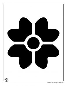 232x300 Printable Flower Stencils Amp Templates Woo! Jr. Kids Activities