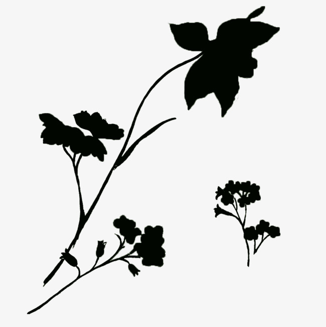 650x651 Simple Black Background Wind Flower Decoration, Black, Flowers