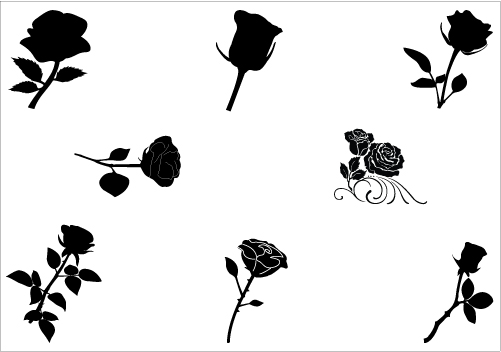 501x352 Free Rose Silhouette, Hanslodge Clip Art Collection