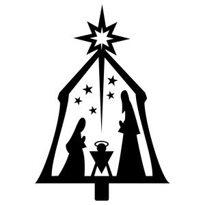 300x300 Simple Nativity Simple Nativity, Silhouette Design And Silhouette