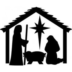 236x236 Manger Silhouette Nativity Silhouette Patterns