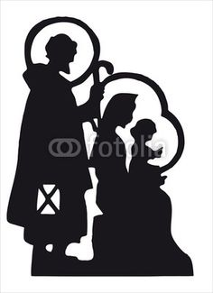 236x325 Nativity Scene With Jesus, Mary, Joseph Silhouette By Milena