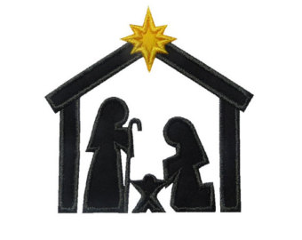 340x270 Nativity Silhouette Etsy