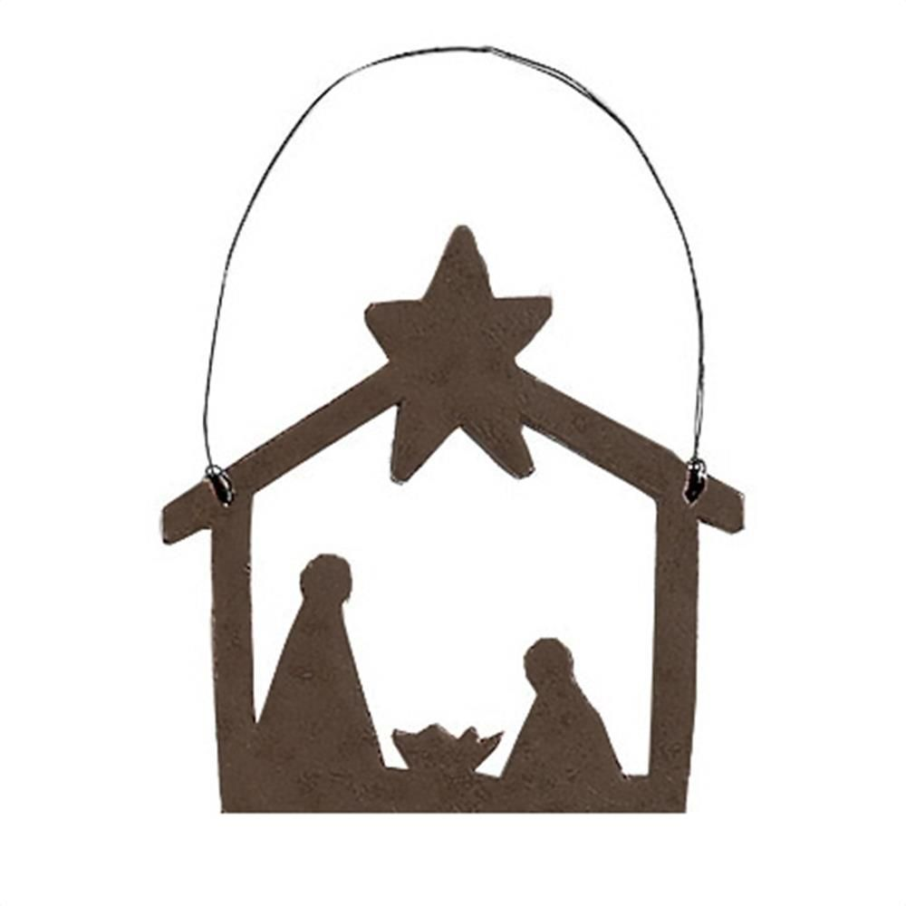 1000x1000 Nativity Silhouette Ornaments