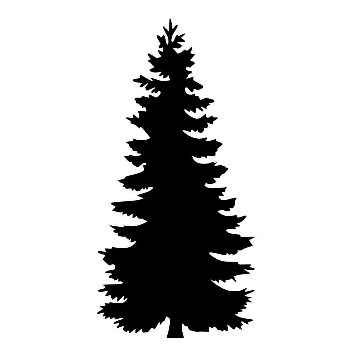 Simple Pine Tree Silhouette at GetDrawings | Free download