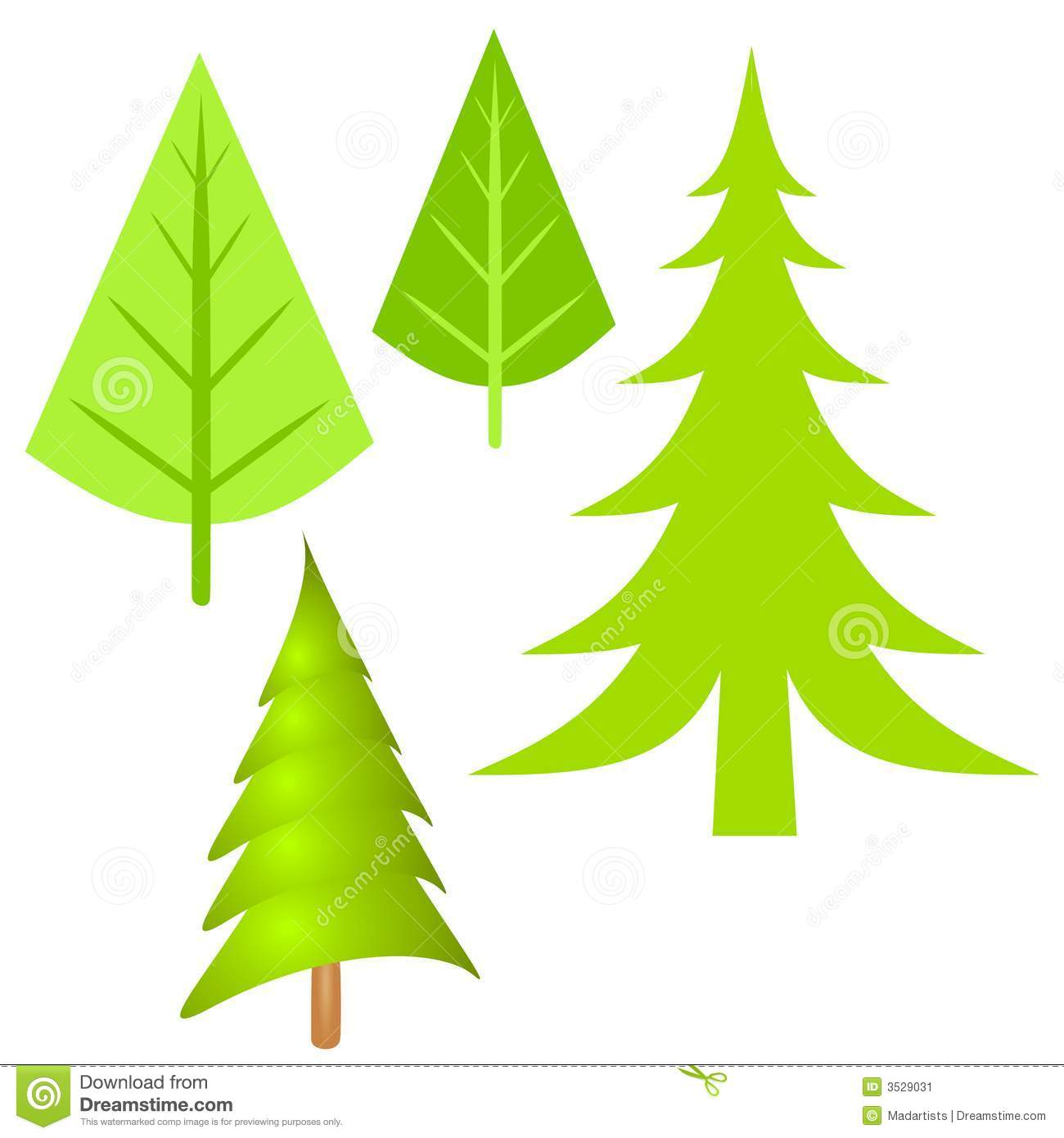 1300x1390 Simple Pine Tree Clipart