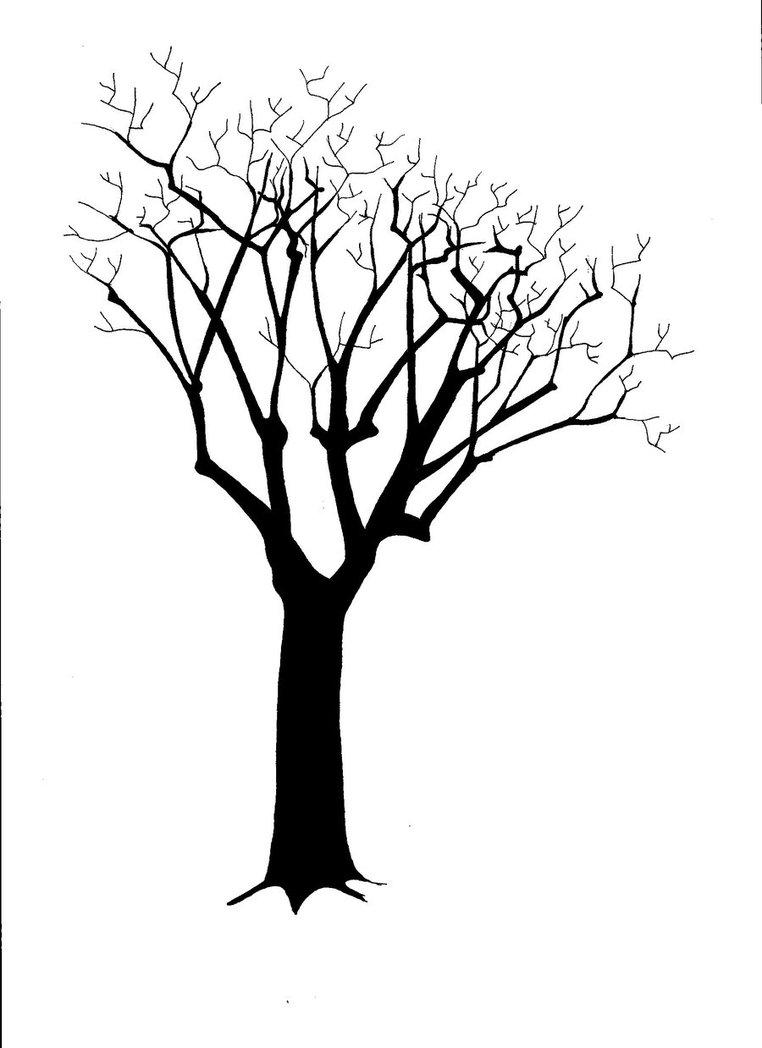 762x1048 Simple Tree Silhouette Clip Art