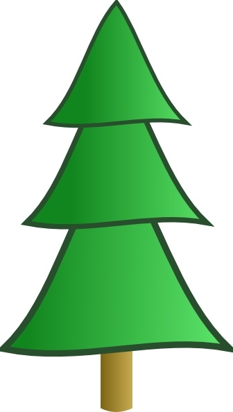 336x594 Drawn Fir Tree Simple