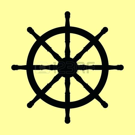 450x450 Ship Wheel Vector Steer Icon Vector Ship Steering Wheel Vector