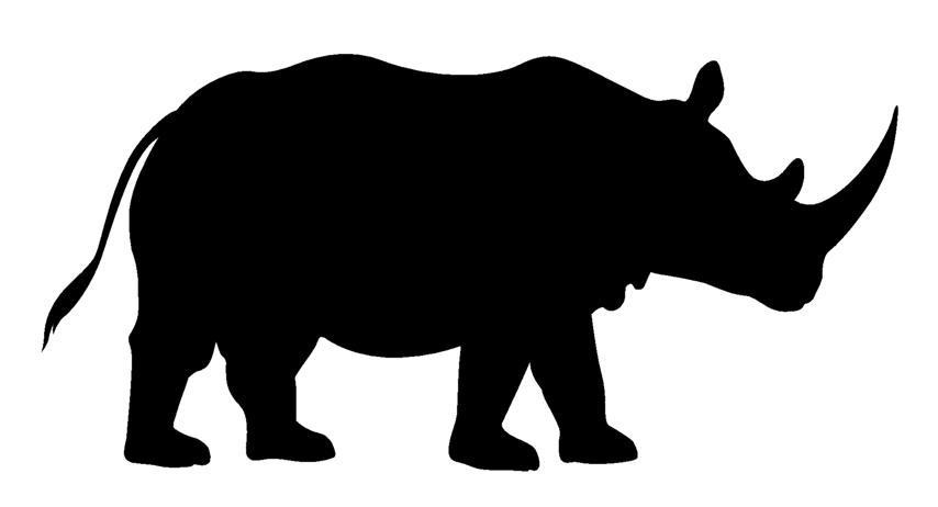854x462 Rhino Silhouette Simple Living Tree In The World Places
