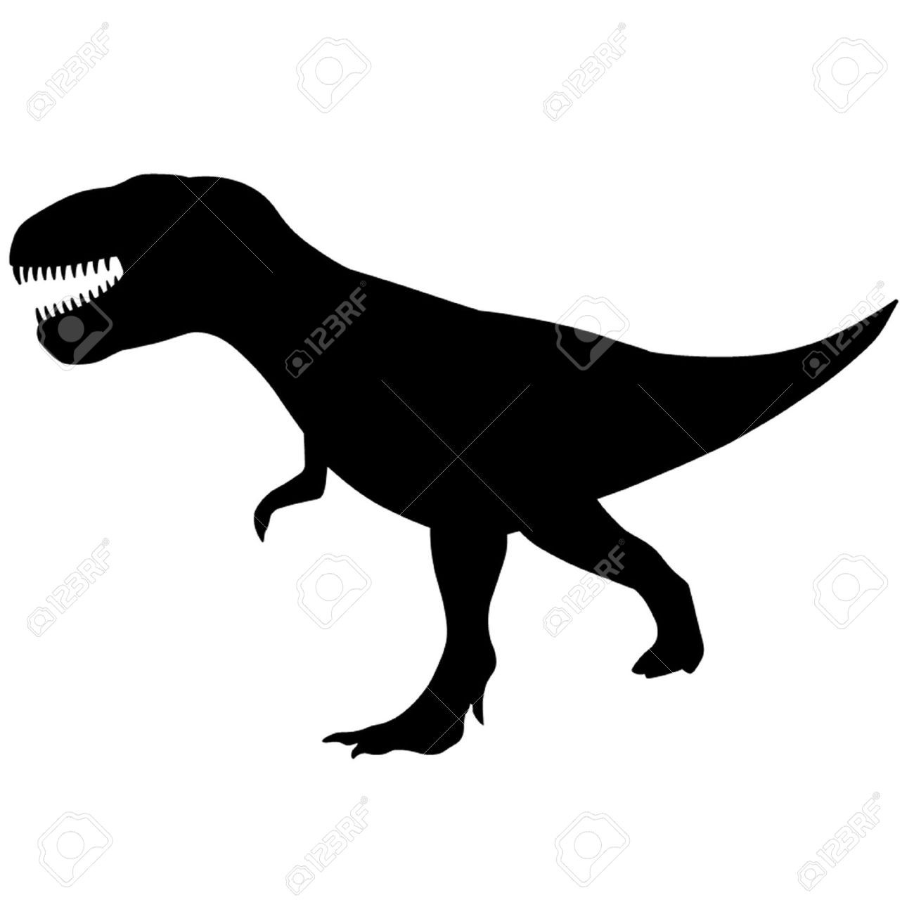 1300x1300 Silhouette Clipart T Rex Pencil And In Color Best Simple
