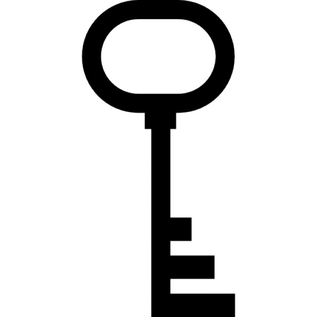 626x626 Simple Key Silhouette Icons Free Download