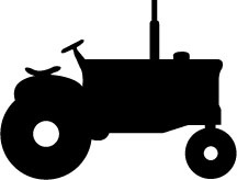 216x164 Tractor Silhouette Clipart