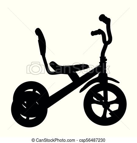 450x470 Vector Simple Silhouette Of Tricycle Vectors