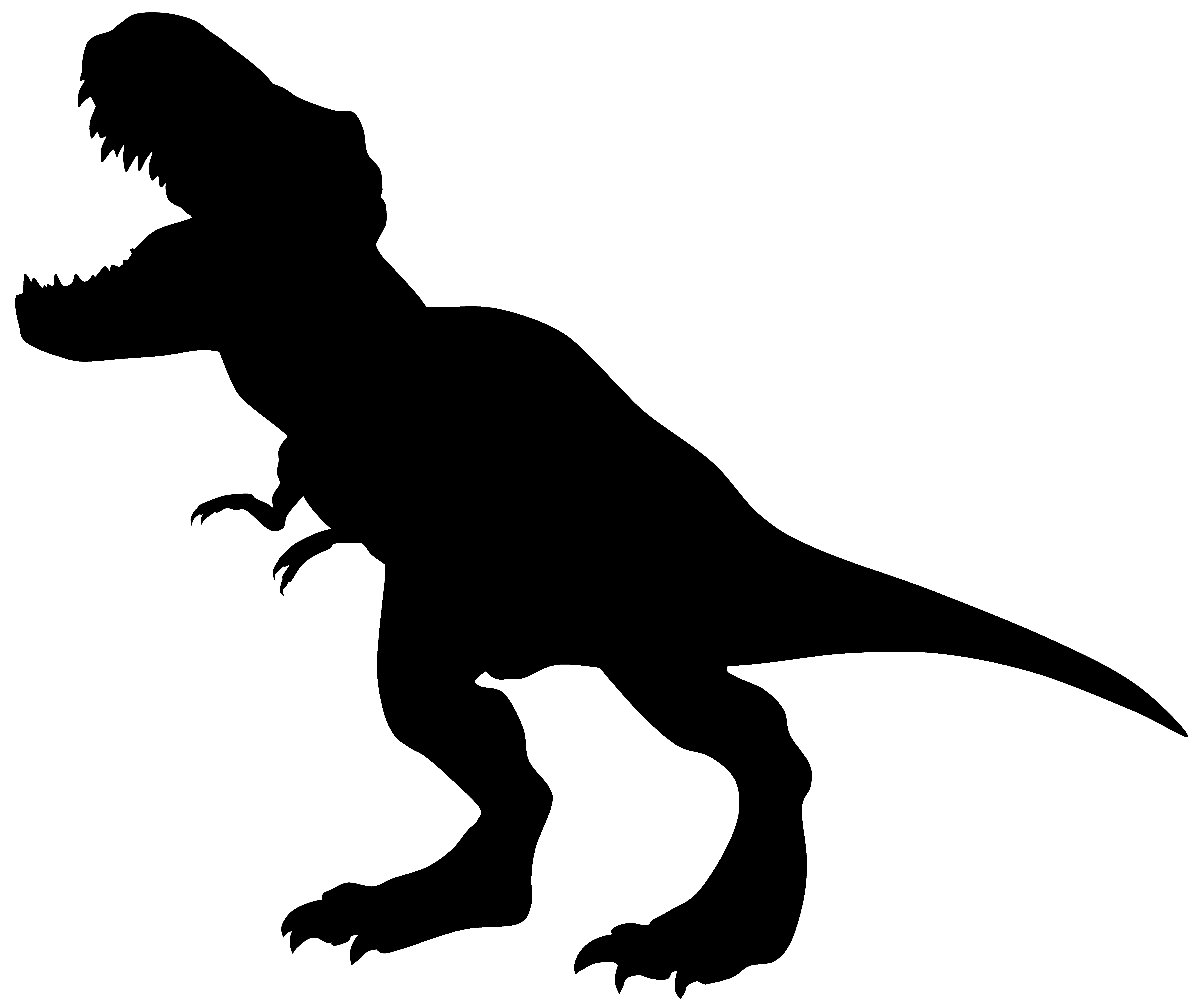 8000x6660 Dinosaur Silhouette Clipart 53 Simple T Rex Robertjhastings Net