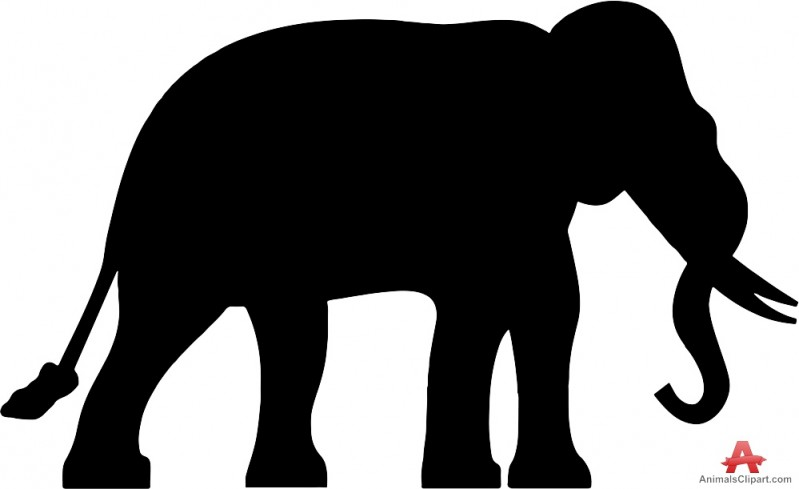 799x489 Elephant Simple Silhouette Clipart Free Clipart Design Download