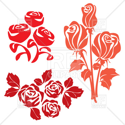 400x400 Rose Simple Silhouette Royalty Free Vector Clip Art Image