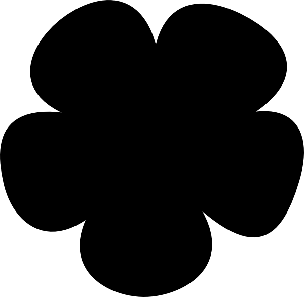 600x587 Simple Flower Clip Art