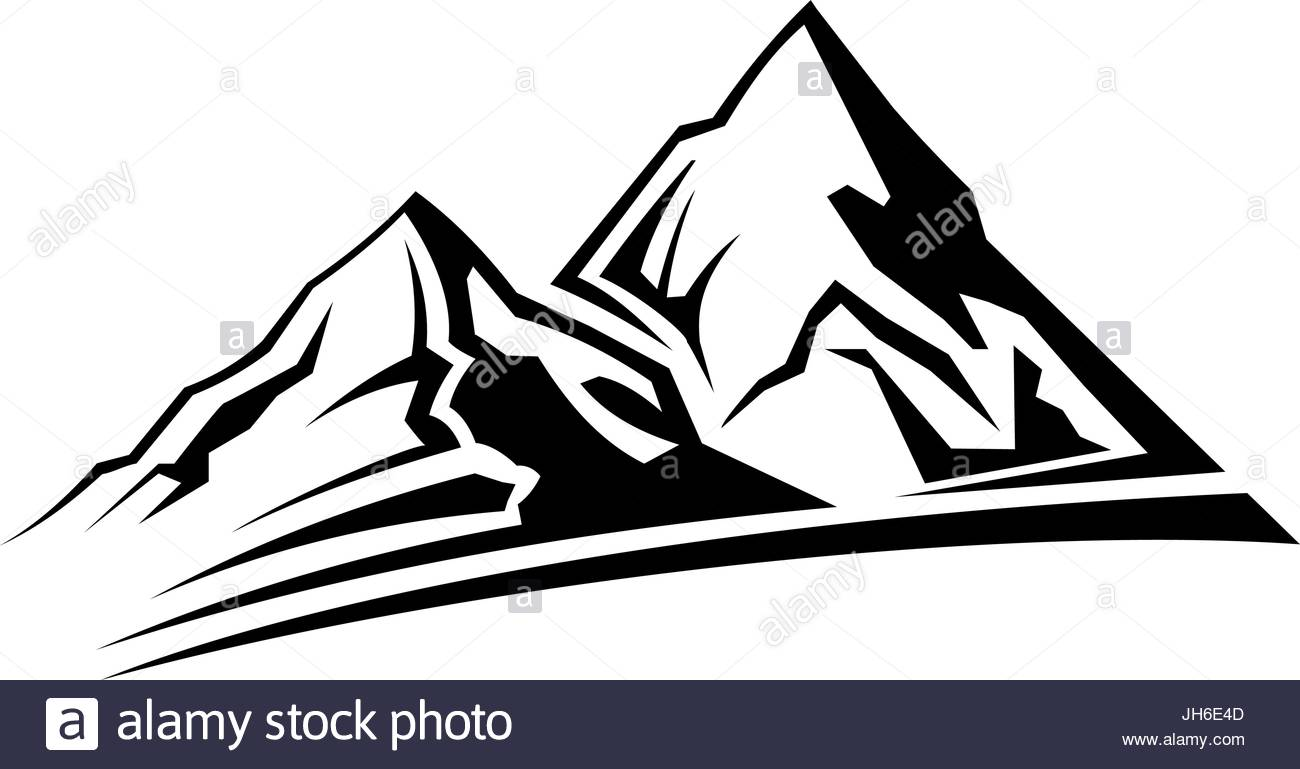 1300x769 Simple Mountain Silhouette Stock Vector Art Amp Illustration, Vector