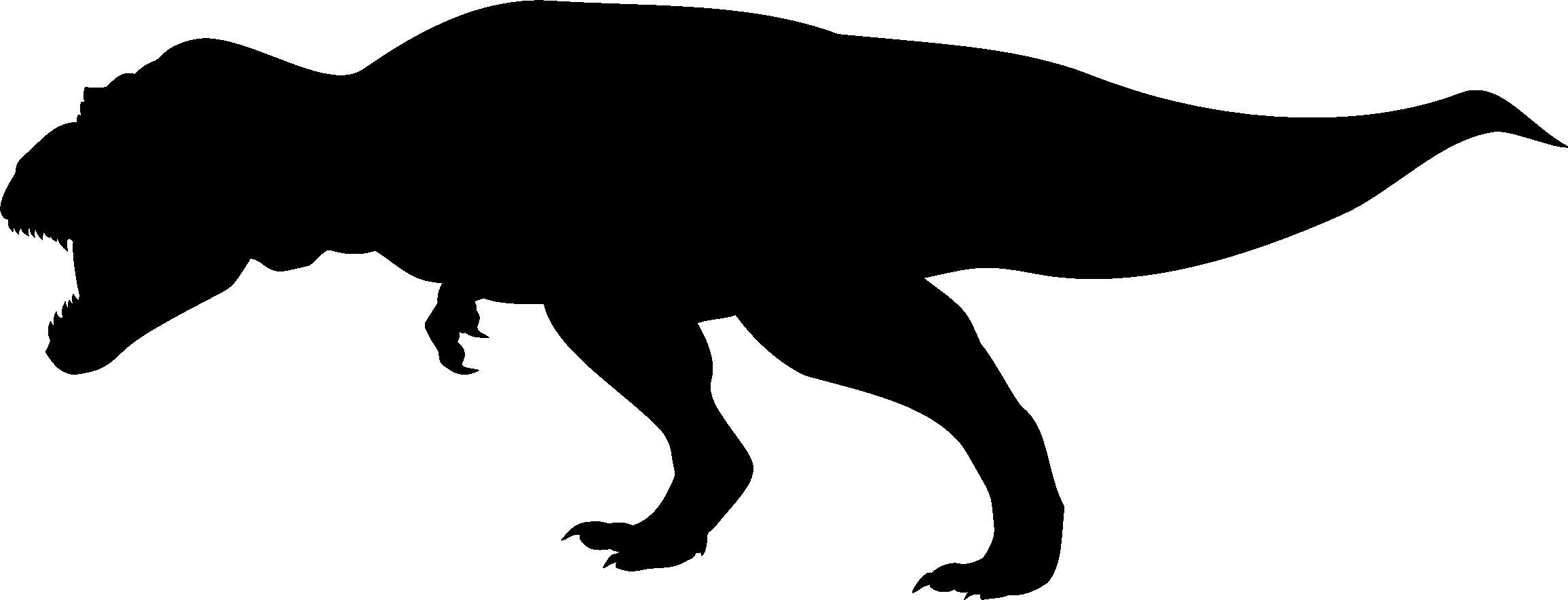 2310x884 Dinosaur Silhouette Clipart 53 Simple T Rex Robertjhastings Net