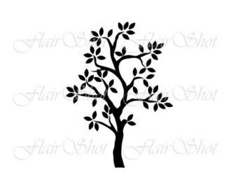 340x270 Heart Tree Silhouette Tree Silhouette Png File Tree Clip