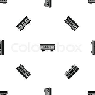 320x320 Steam Locomotive And Rail Car Silhouette Stock Vector Colourbox