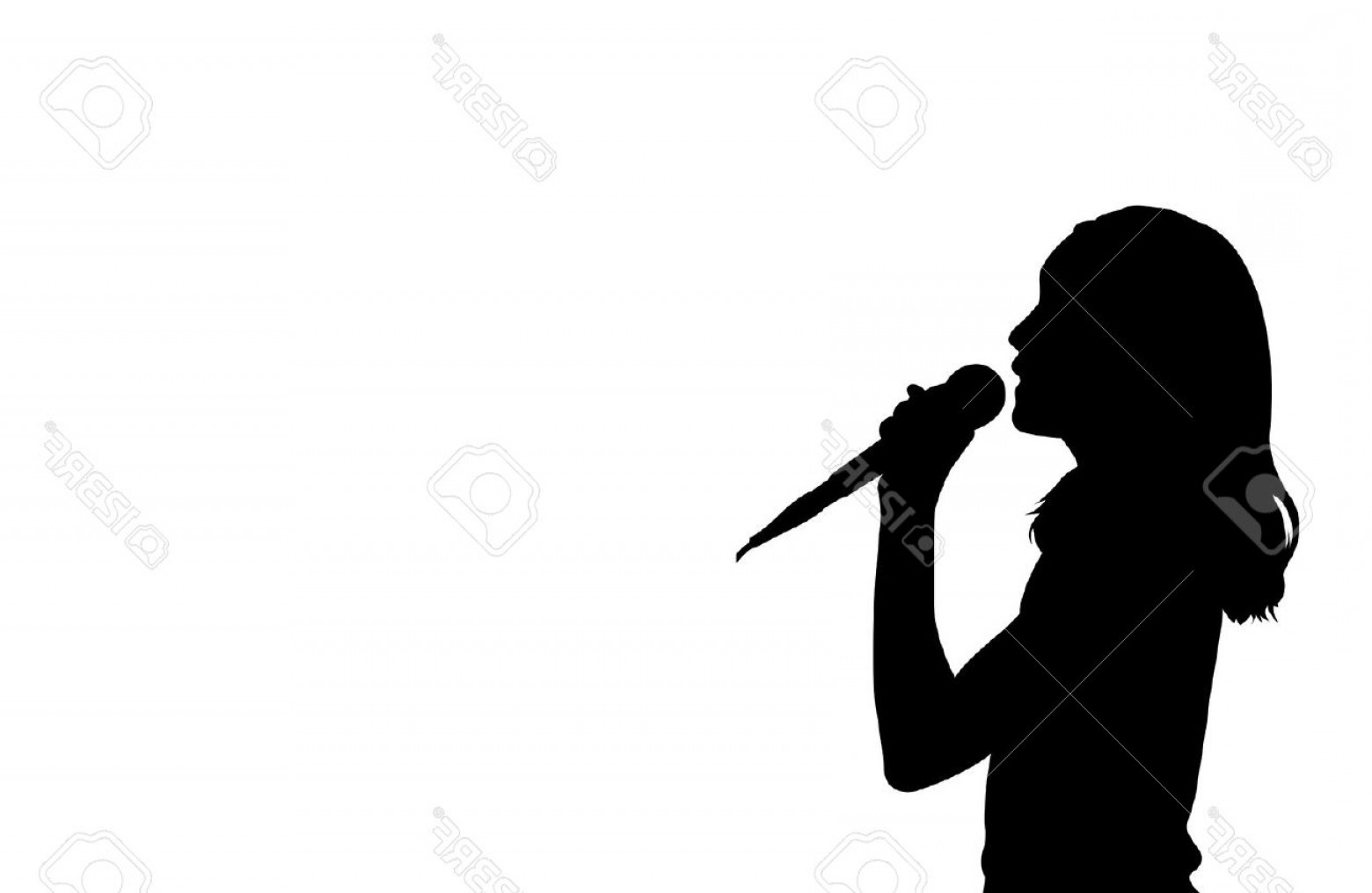1560x1016 Photostock Vector Girl Singing Silhouette Vector Arenawp