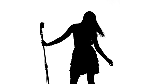 590x332 Silhouette Of Singer Dancing, Making Vigorous Movements Amp Begining