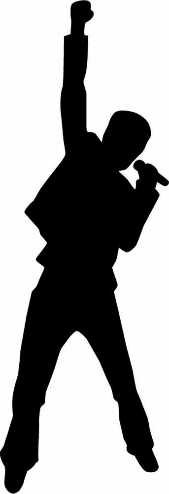 343x1000 Silhouette Of Someone Singing