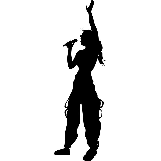 660x660 Girl Singing Vector Graphics