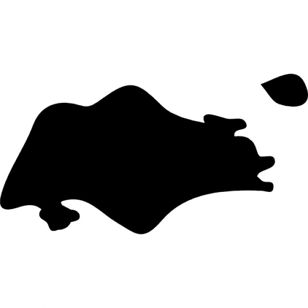 626x626 Singapore Country Map Black Shape Icons Free Download